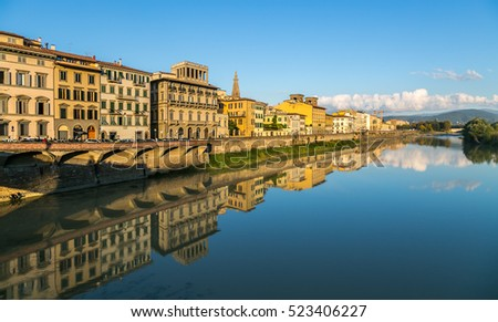 Florence Arno River - Italy, Europe, Cityscape