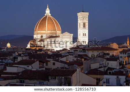 Florence Cathedral (Duomo - Basilica di Santa Maria del Fiore) - stock photo