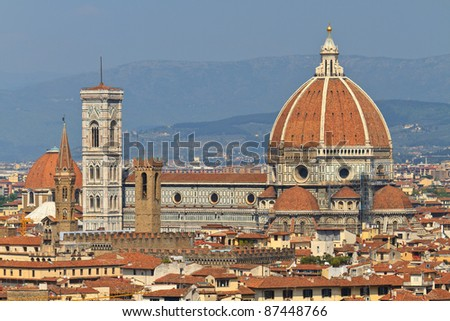 Florence Cathedral (Duomo di Firenze), Tuscany, Italy - stock photo