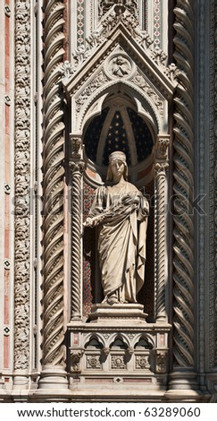Florence Cathedral facade decoration, Tuscany, Italy