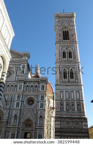 Florence, Cathedral steeple and facade