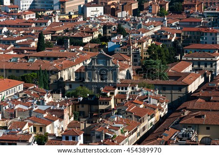 Florence city view in Autumn, Italy