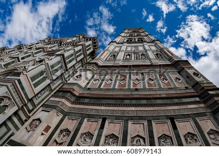 florence dome tower bottom up view fisheye 180 degrees