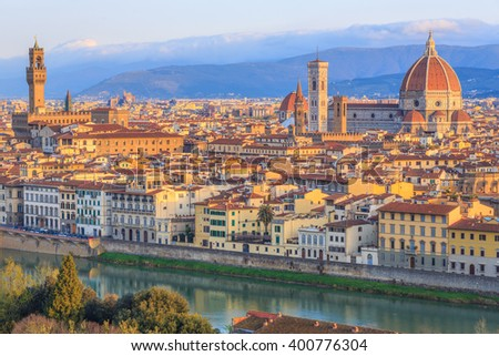 Florence early in the morning, Italy - stock photo