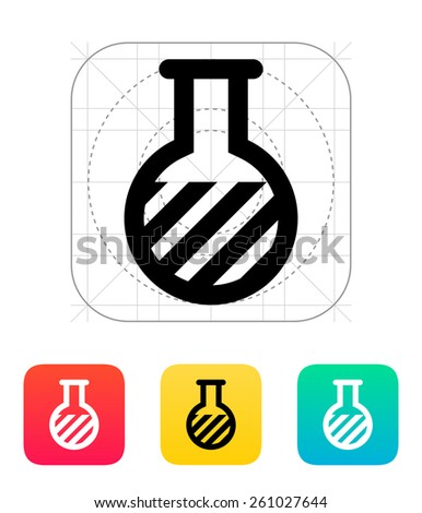 Florence flask with substance icon on white background. - stock photo