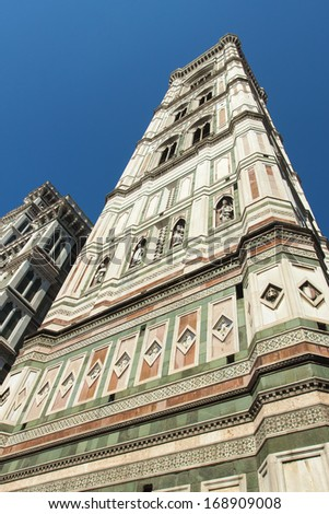 Florence, Italy. Cathedral of Santa Maria del Fiore , (Santa Maria del Fiore, Duomo in Florence ) , architectural details