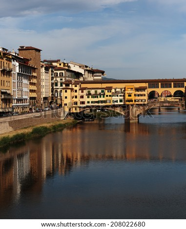 FLORENCE, ITALY - 23 JUNE, 2014: Ponte Vecchio in Florence , Italy