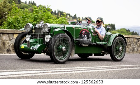 FLORENCE, ITALY - MAY 19: MG K3 (1934) along Via Bolognese during the 1000 miles on May 19, 2012 in Florence, Italy