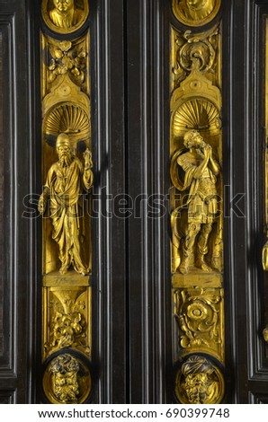 Florence Italy - September 16 2016: East doors or Gates of Paradise & Ghiberti Stock Images Royalty-Free Images \u0026 Vectors | Shutterstock Pezcame.Com