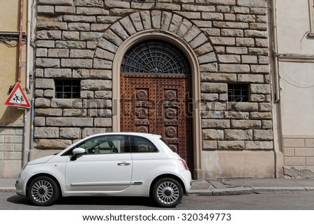 Florence Italy September 14 2015 Fiat Stock Photo Royalty Free