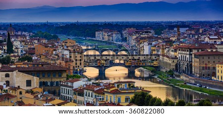 Florence, Italy - view of the city, panorama - stock photo