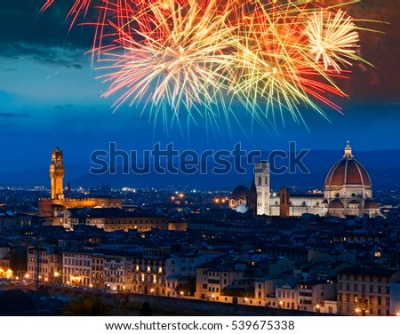 Florence new year, Italy