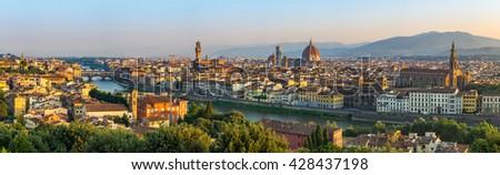 Florence panorama city skyline, Italy - stock photo