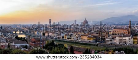 Florence Panorama, Tuscany, Italy - stock photo