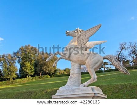 Florence Pegasus from Boboli Garden - stock photo