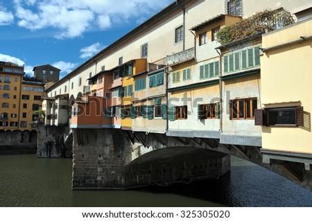 Florence, Ponte Vecchio Scenics - stock photo
