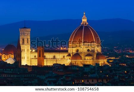 Florence sunset - stock photo