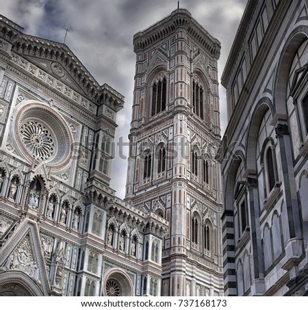 Florence. The historical center of the old city. City landscape. places of Interest. Attractions.