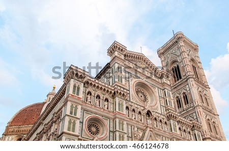 Florence, Tuscany, Italy - June, 07, 2016: Cattedrale di Santa Maria del Fiore (Cathedral of Saint Mary of the Flowers - Duomo di Firenze)