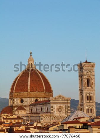 Florence, View of the Cathedral D - stock photo