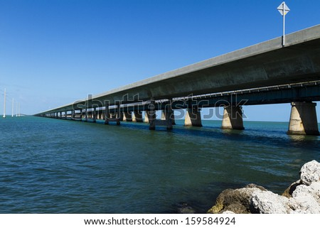 Florida Keys Bridge, Florida, USA - stock photo