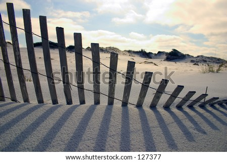 Florida Paradise - Art with Shadows on the beach (exclusive at shutterstock) - stock photo