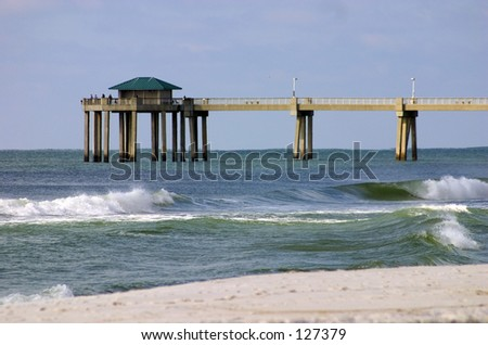Florida Paradise - Beach with a pier (exclusive at shutterstock) - stock photo
