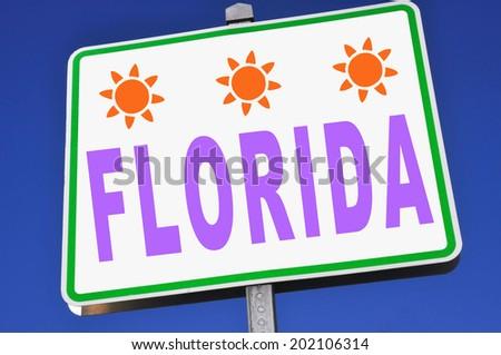 Florida Sign - stock photo