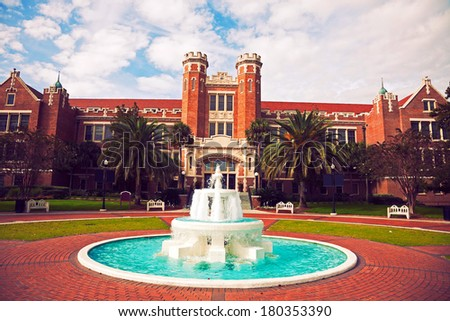 Florida State University historic buildings in Tallahassee, Florida - stock photo
