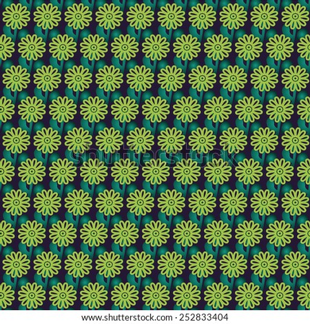 Florist green blue raster background - stock photo