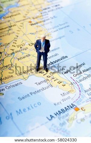 floryda man travel - stock photo
