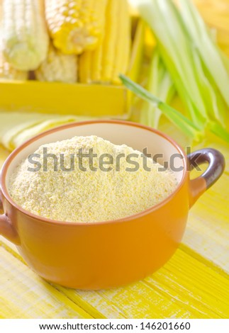 flour and corn - stock photo