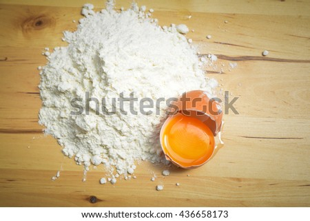 Flour and one egg