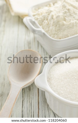 Flour and sugar