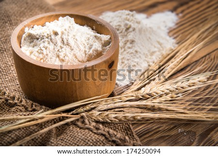 flour from durum wheat - stock photo