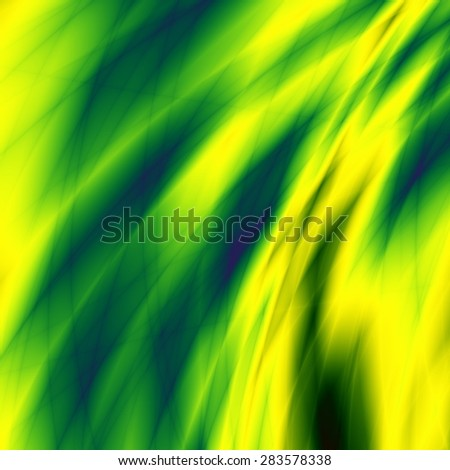 Flow background green nature unusual illustration design - stock photo