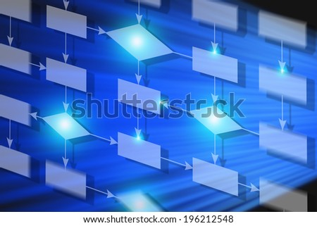 Flow chart or business processes re-engineering - stock photo