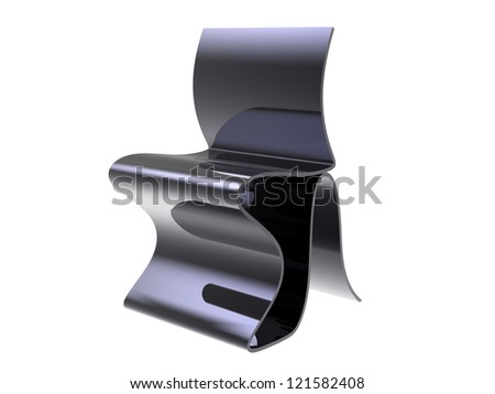Flow Concept chair isolated on a white background - stock photo