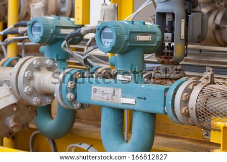 Flow meter for measure oil , liquid and gas in the system, The meter to measure flow condition in oil and gas process.