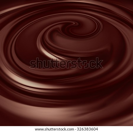 flow of liquid chocolate full screen as background