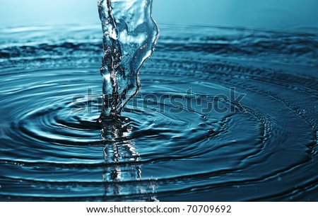 flow water - stock photo