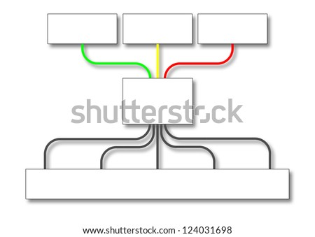 flowchart for business strategy - stock photo