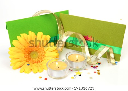 Flower and card