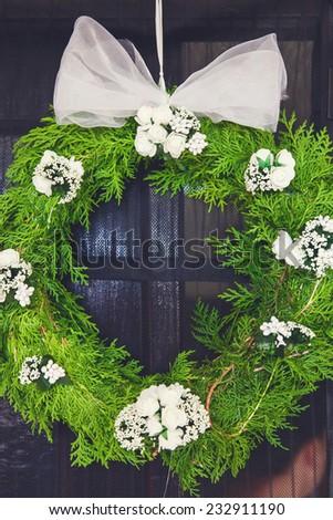 Flower arrangement, wedding - stock photo