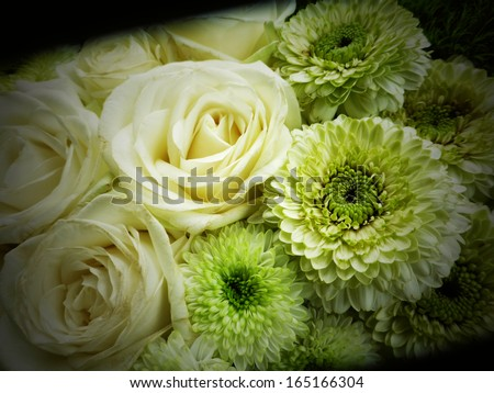 flower background, condolences card background - stock photo