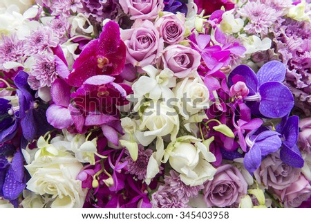 Flower blur background