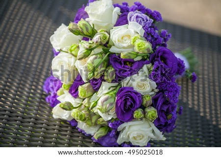 flower bouquet for the bride in wedding ceremony.