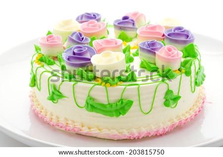 Flower cakes - stock photo