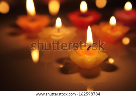 flower candles