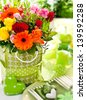 Flower decoration - stock photo